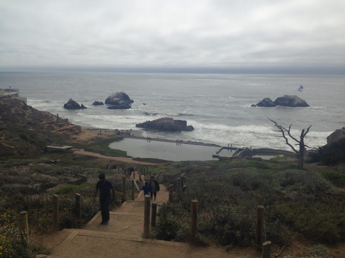 Now… time for the hike. Begin at the Sutro Bath ruins, exploring what was once a luxurious, world-class swimming pool.