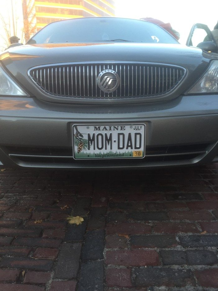 3. Because mom and dad are here!
