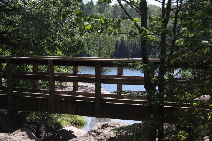 You can catch an amazing view from the overlooks or from the bridge over the creek.