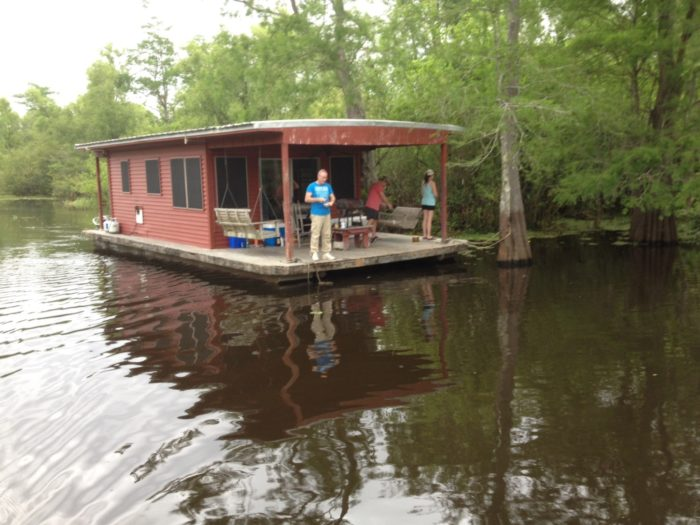 These houseboats give you a real taste of cajun life.