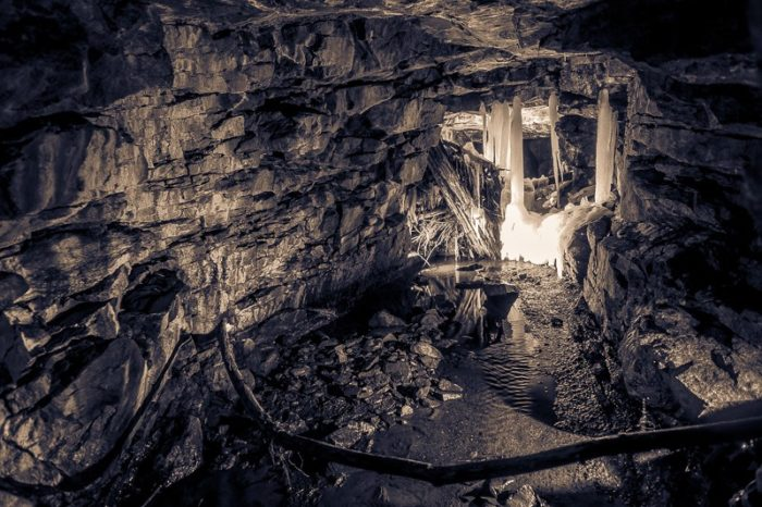Buckingham Creek Drain has amazing caverns from stone blasting
