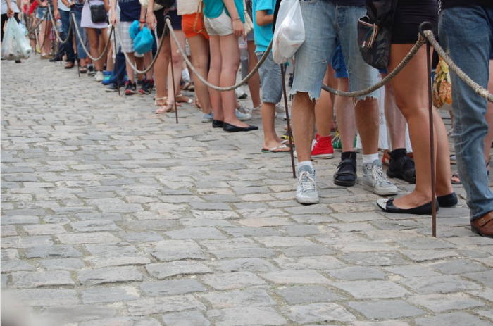 5. Waiting in lines
