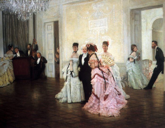 James_Tissot_-_Too_Early_-_1873
