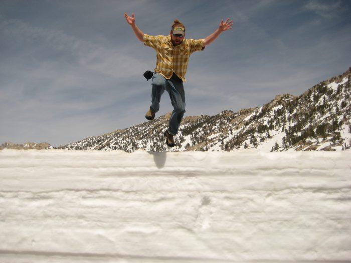 Fun in the snow in Lamoille Canyon