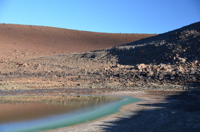 But the lake used to be much larger; As of September 2013, the lake measured in at less than 2 percent of its original size. No one is exactly sure what caused this massive shrinkage, but it is assumed to be related to drought-like conditions at Mauna Kea from 2010 to 2013, because in 2014, after a particularly rainy winter, the lake was back to approximately 75 percent of its regular size.