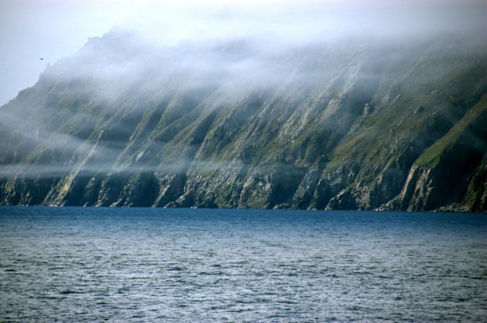 5. Wave to Russia while you do it on Little Diomede Island in Alaska