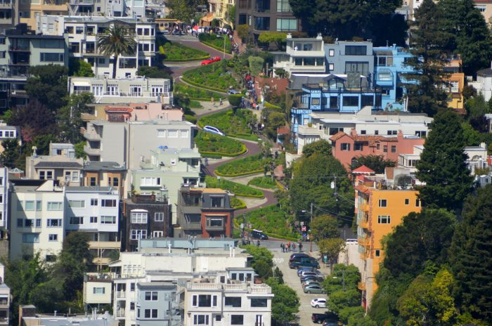 5. Snake your way down Lombard Street.