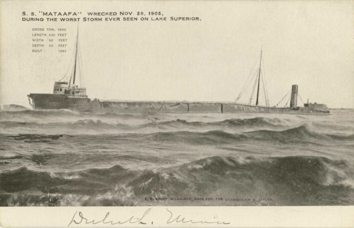 7. The S.S. Mataafa also went down in the famous 1905 storm, however this one occurred back in Duluth where Minnesotans flocked the shorelines to catch a glimpse of the decrepit boat.