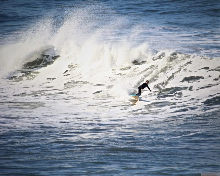 Surfers love to hit up the area of Mavericks, where they can catch overs over 60 feet tall.