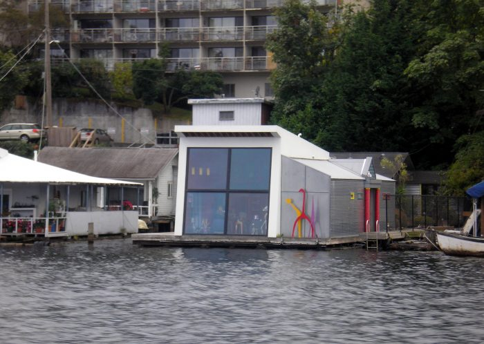 5. This modern floating house in Seattle.