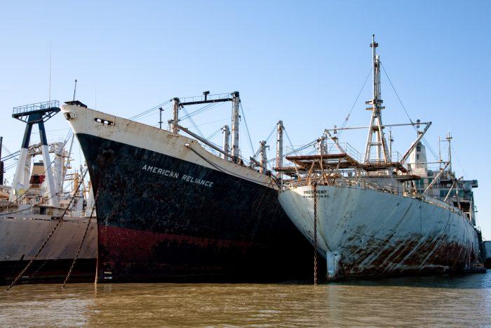 The Ghostly Ships Of The Suisun Bay Mothball Fleet