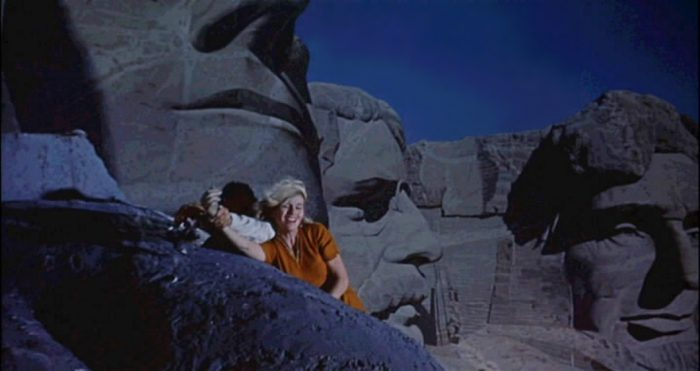 8. More movies have paid homage to Mt. Rushmore than to the Eiffel Tower and the Sphinx combined. Here it is shown in the movie North by Northwest.