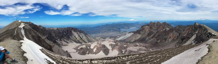8. If you've ever wondered what the view from the top of Mount Saint Helens is, now you know.