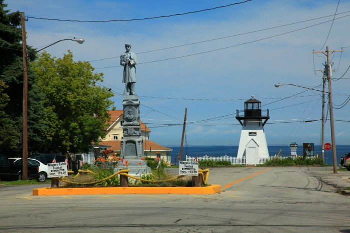 Located on the southern shore of Lake Ontario, you'll find the small hamlet of Olcott.