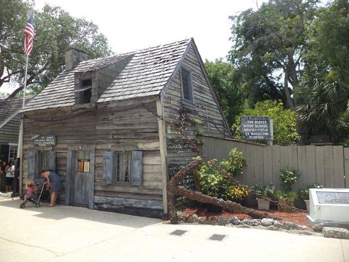 2. Oldest Wooden Schoolhouse (St. Augustine)