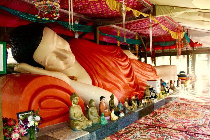 Reclining Buddha-Cambodian Temple