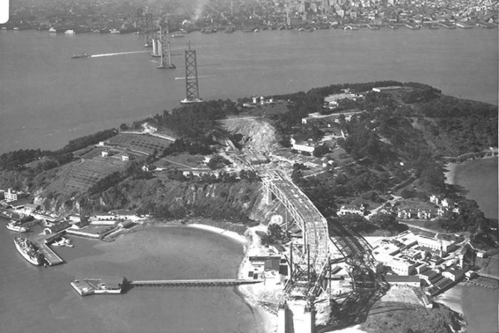 4. Bay Bridge: Under Construction in 1935 & Now