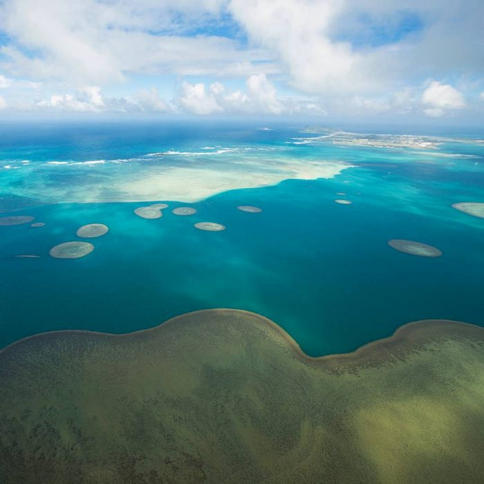 The aerial view of the sandbar is seriously surreal.