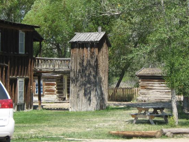 9. Nevada City's two story outhouse