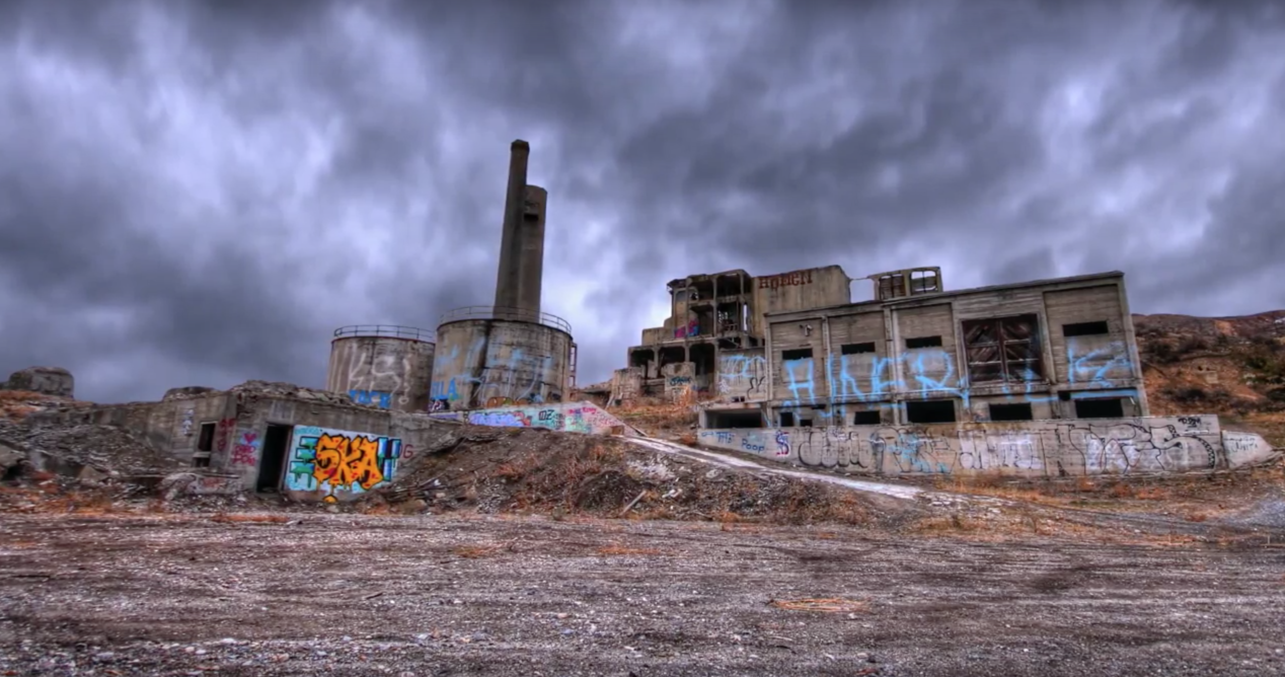 Great Northern Portland Cement Co : This abandoned factory in oregon is hauntingly beautiful