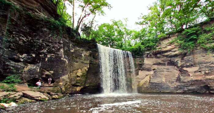7. The stunning Minneopa lower falls are 39 feet tall. A limestone staircase will take you to the bottom so you can experience the best view.
