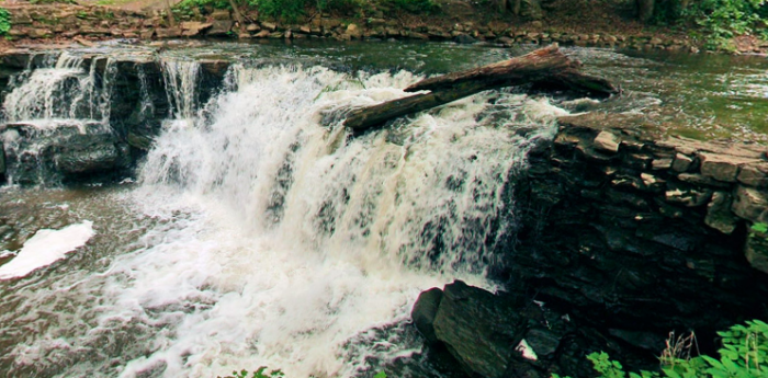 8. Minneopa Upper Falls are 10 feet of cascading beauty adjacent to the picnic area at Minneopa State Park.