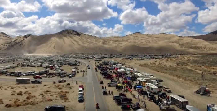 On Easter weekend, up to 30,000 people come to Little Sahara.