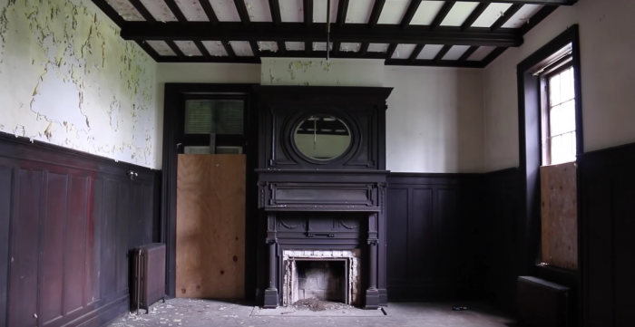 For years, ashes sat on the dramatic hearths of the mansion.  The mansion's halls were stunningly well-preserved.