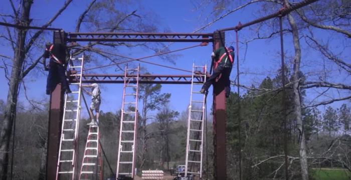 Consider, that Mississippi swinging bridge are