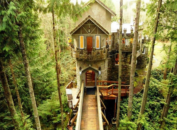 8. The rainforest castle in Sedro Woolley.