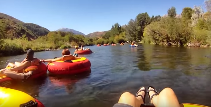 The Provo River offers plenty of calm waters for relaxing and splashing.