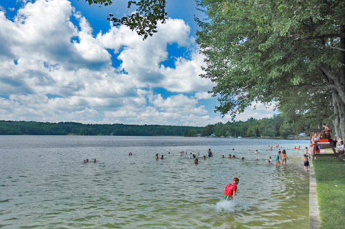 Don't feel like whizzing around? Take an old-fashioned dip in the crystal-clear waters of the reservoir.