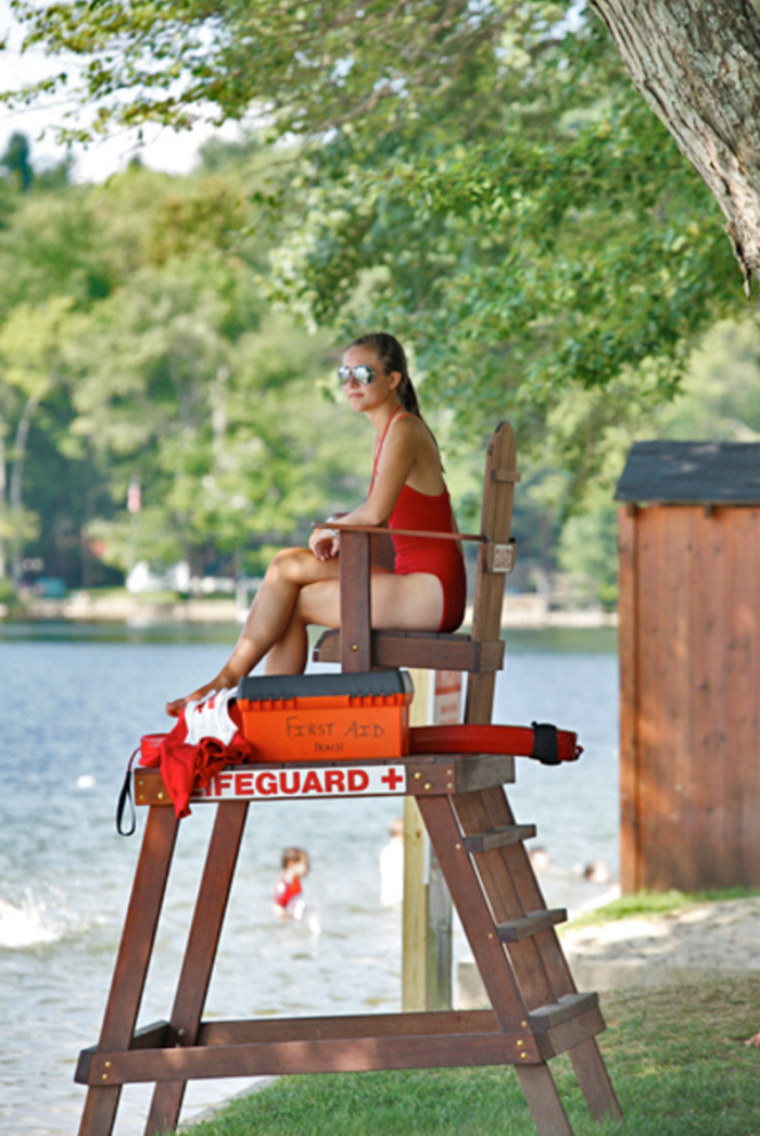 You can feel confident that your day in the sun will be a safe one, thanks to the on-duty lifeguards.