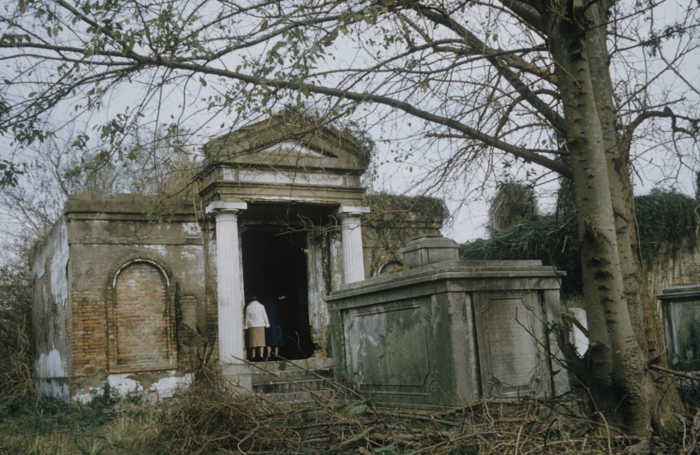 This is what the Lusitanos tomb looked like in 1957.