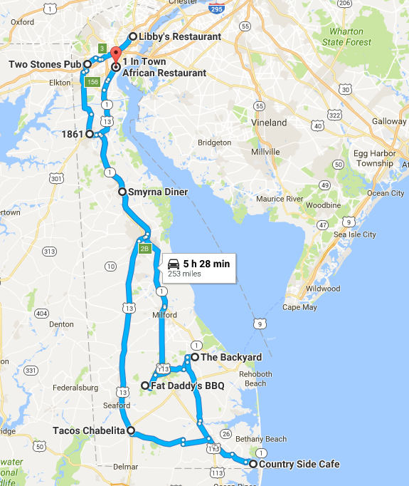 Hit All Corners of the State with this 3-Day, 9 meal road trip through Delaware!