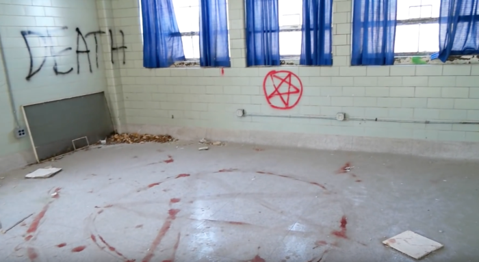 ...and rooms full of satanic imagery and symbols.