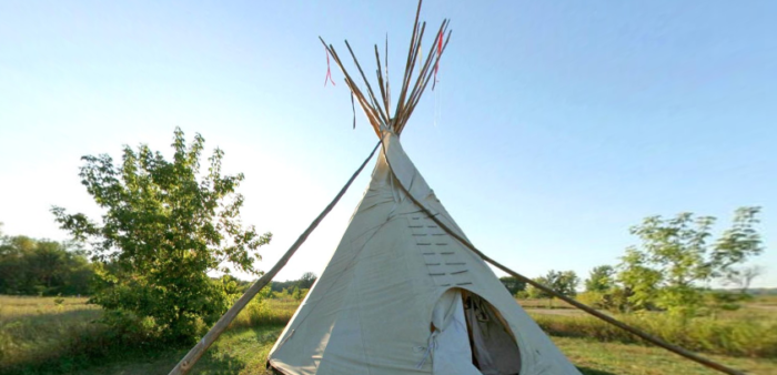 And at the Yellow Medicine Campground, rather than traditional tent sites, in some you can find these massive tipis.