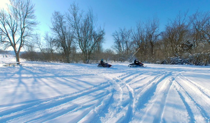 Not to mention the epic snowmobiling trails!