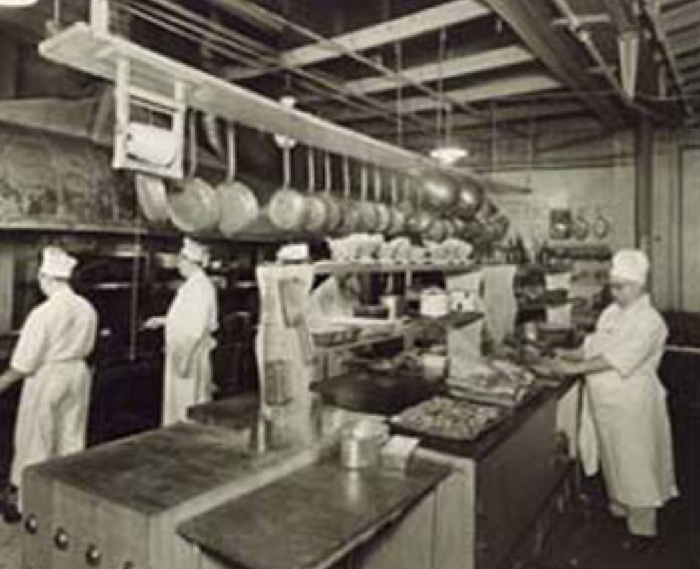 This is what the kitchen looked like in 1951.