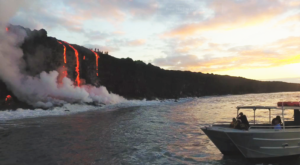 This Volcano In Hawaii Just Set The Ocean On Fire And It's Completely Mesmerizing