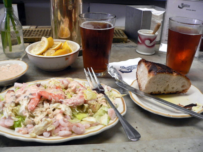 Other favorites: the shrimp salad, sea urchin, and clam chowder. All are perfect complements to a glass of San Francisco-brewed Anchor Steam.