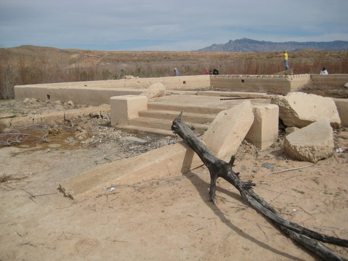 The ghost town is open to visitors interested in exploring its ruins.