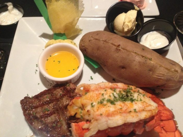 Stone Hearth steak and lobster. Kristy A