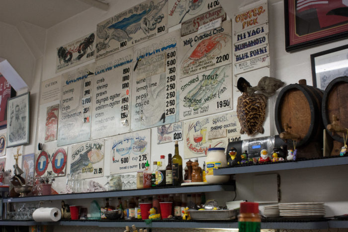 But oysters are not the only items on the menu: There's plenty of other fresh seafood, including Dungeness crab, shrimp, prawn, lobster, and smoked trout and salmon.