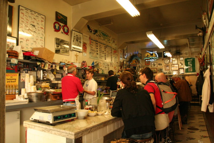 Why is there always a line? There's only about a dozen stools available at the crowded counter.