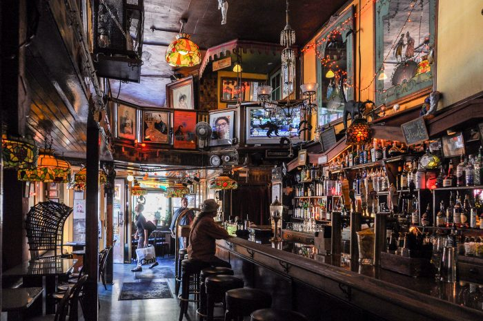 Lastly, head into Vesuvio Cafe, the historic bar at 255 Columbus Avenue to drink like Kerouac, Ginsberg, and Cassady once did.