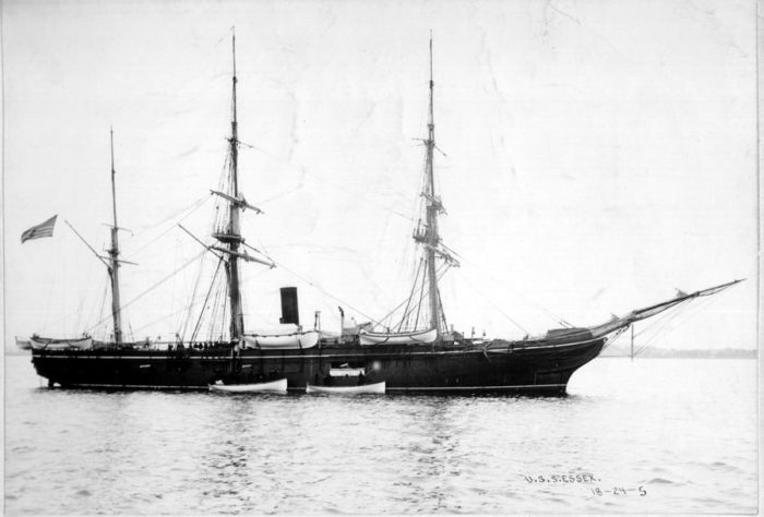 2. The U.S.S. Essex was set on fire in the Duluth Harbor where some remnants of the ship can still be found.