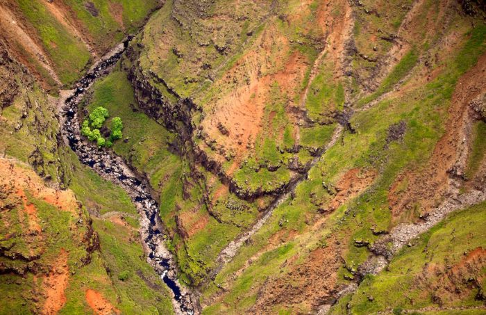 For a unique, aerial view of the canyon, consider splurging for a helicopter tour of Waimea Canyon. You will not only experience this magnificent geological wonder from an entirely different perspective, but the thrill will provide a once in a lifetime experience.
