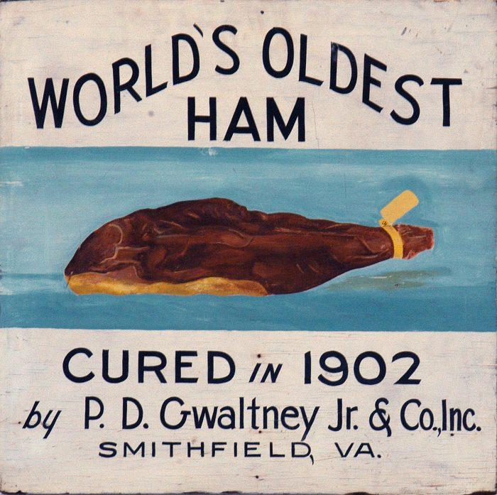 3. World's Oldest Edible Ham (Smithfield)