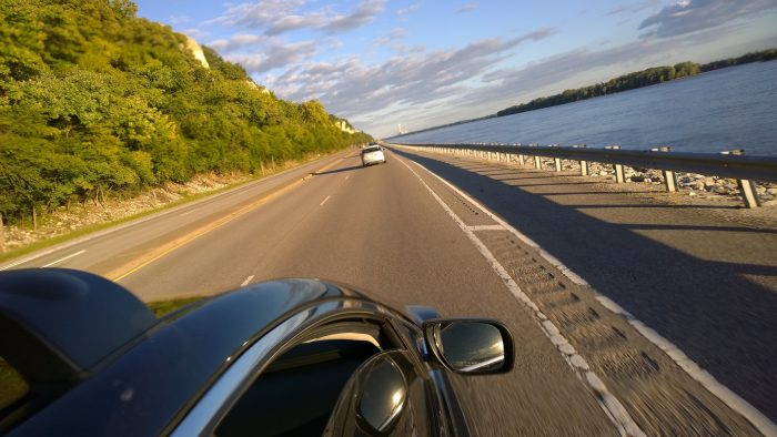 The road follows the Mississippi River, giving both driver and passenger some absolutely stunning views of the water.